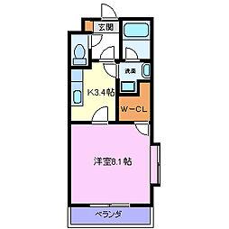 メゾンクレール・1[1階]の間取り
