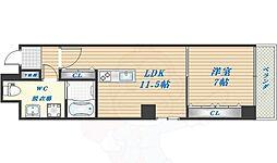 Oblio porta UEMATIDAI 7階1LDKの間取り
