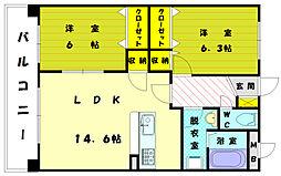 ファミーユシオハマ[2階]の間取り