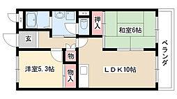 愛知県名古屋市緑区細口3の賃貸マンションの間取り