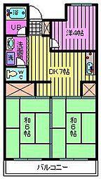 ヤマダマンション[106号室]の間取り
