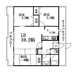 静岡県浜松市西区大平台4丁目の賃貸マンションの間取り