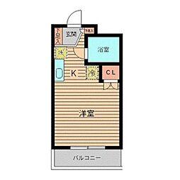 美山コーポ向ヶ丘[3階]の間取り