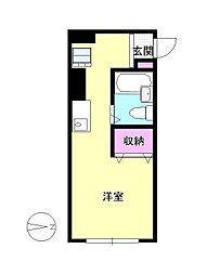 東京都八王子市南新町の賃貸アパートの間取り