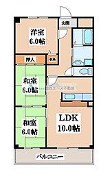 ヒルズ東大阪[3階]の間取り