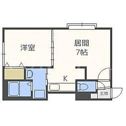 Kazu東札幌[1階]の間取り