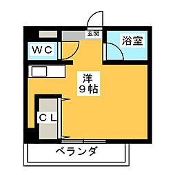 Espoir板屋[6階]の間取り