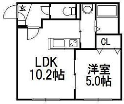 ノースポインツ澄川[203号室]の間取り