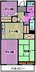 リバーサイドMAKIBA[6階]の間取り