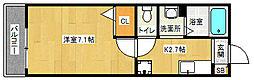 京都府向日市物集女町クヅ子の賃貸アパートの間取り