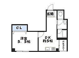 兵庫県姫路市坂元町の賃貸マンションの間取り