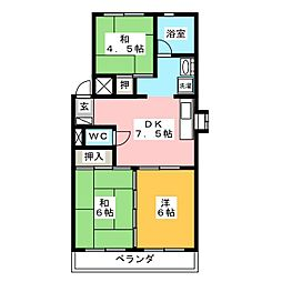 ダイヤマンション[4階]の間取り