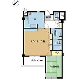 新潟県新潟市中央区米山6丁目の賃貸マンションの間取り