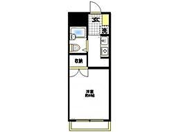 エスプリ片倉A[1階]の間取り