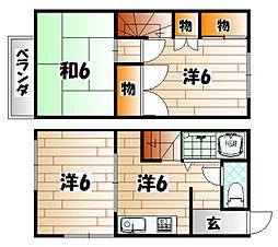 柳井メゾネット[101号室]の間取り