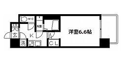 レジュールアッシュ天王寺PARK SIDE[9階]の間取り