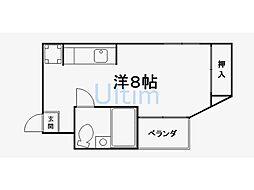 セゾン長岡[1階]の間取り