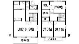 [テラスハウス] 兵庫県宝塚市御殿山2丁目 の賃貸【/】の間取り