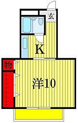 堀六ビル[2階]の間取り