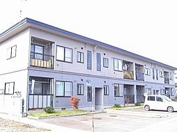 秋田県大仙市四ツ屋字下新谷地の賃貸アパートの外観