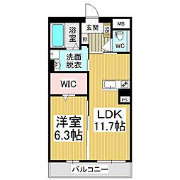 (仮)広丘高出ブレインマンション[2階]の間取り