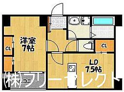 ポートサイド博多[4階]の間取り
