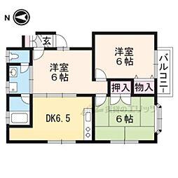 サザンビューティ多喜 3階3DKの間取り