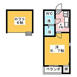 リバティー豊田本町[1階]の間取り