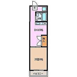 千代田ビルディング 5階1DKの間取り