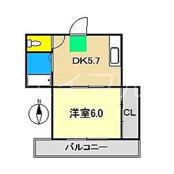 ハイツMII[4階]の間取り