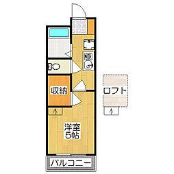 レオパレス西ノ京円町[410号室]の間取り