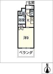 エルメディオ千種(学生フロア)[3階]の間取り