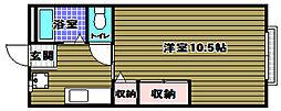 薮内ハイツ[1階]の間取り