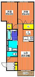 シャーメゾン ブリエ[1階]の間取り
