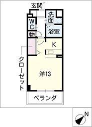 スタシオン上小田井[2階]の間取り