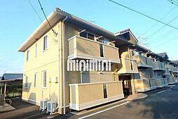 群馬県伊勢崎市境米岡の賃貸アパートの外観
