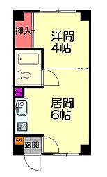 N31[106号室]の間取り
