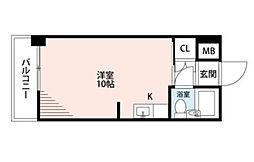 グレイスフル中崎II[2階]の間取り