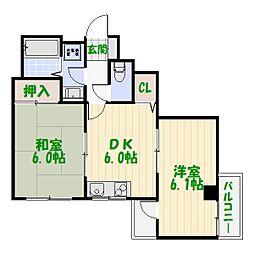 東京都葛飾区青戸3丁目の賃貸マンションの間取り
