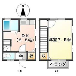 [テラスハウス] 三重県四日市市川島町 の賃貸【/】の間取り