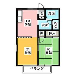 セジュール前並[2階]の間取り
