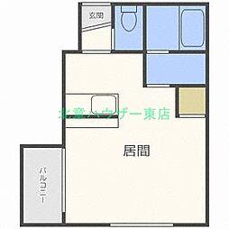 北海道札幌市東区北二十四条東12丁目の賃貸マンションの間取り