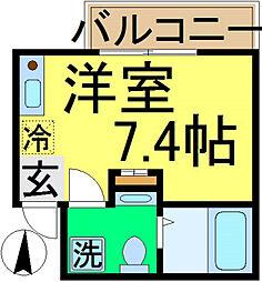 アパートメント新小岩A棟[3階]の間取り