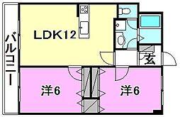 福泉ビル[605 号室号室]の間取り