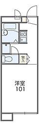 福井県福井市木田1−2217[102号室]の間取り