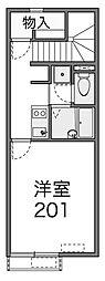 ネクスト新百合2(ネクストシンユリニ)[2階]の間取り