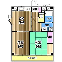 フェアビューヴィラ[2階]の間取り
