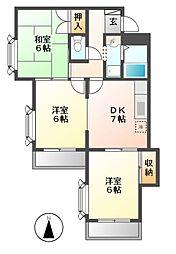 寺山パークハイツ[4階]の間取り