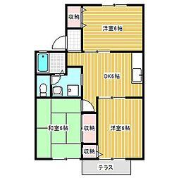 ハイツシャトレーII[1階]の間取り