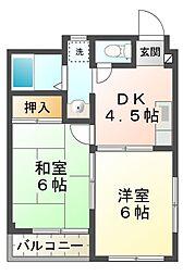 滋賀県大津市坂本7の賃貸アパートの間取り